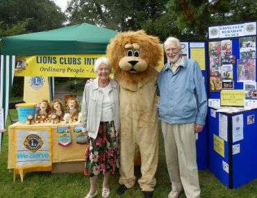 Lions Isabel and Lion Keith with our very own Lion
