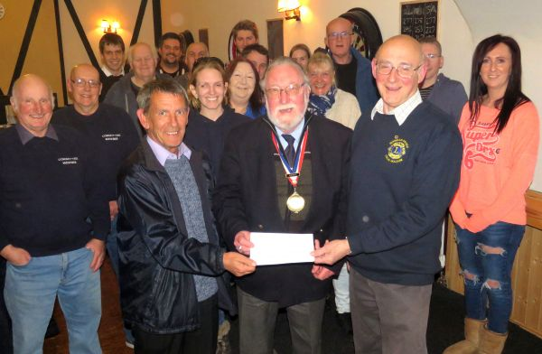 Official Presentation of Cheque to Burnham-on-Sea Lions